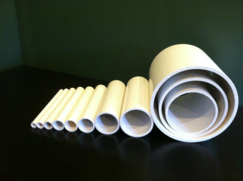 """Any Size Diameter PVC Pipe Sch. 40 or 80 (1/4""""- 24"""" Inch)"""