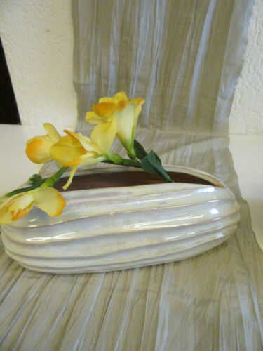 Schale perlmutfarben Größe 9 x 22 cm Blumenschale Tischdeko Ton ca