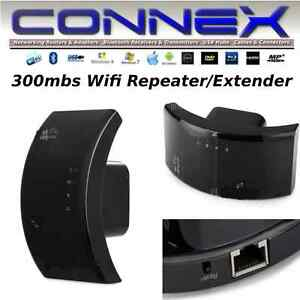 CONNEX-Wifi-Network-Extender-Repeater-300mbs-Internet-home-office-Windows-Linux