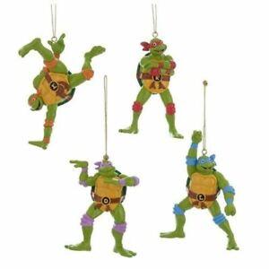"""Teenage Mutant Ninja Turtles /""""Retro/"""" Ornament set Kurt Adler"""