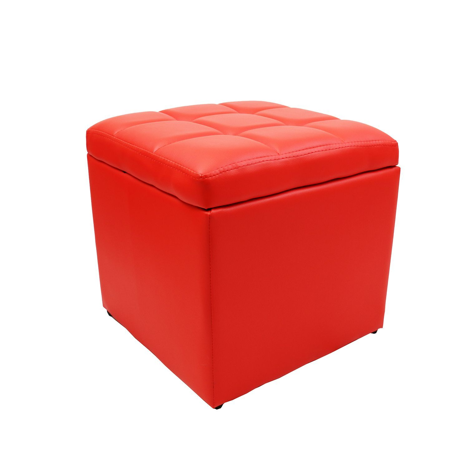Strong Unfold Leather Storage Ottoman Bench Footstool Seat