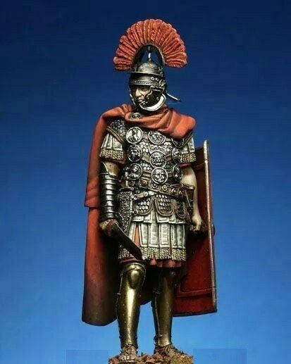En ledarleksak.Rome Centurion, detaljerad leksak, Elite.Handmålat