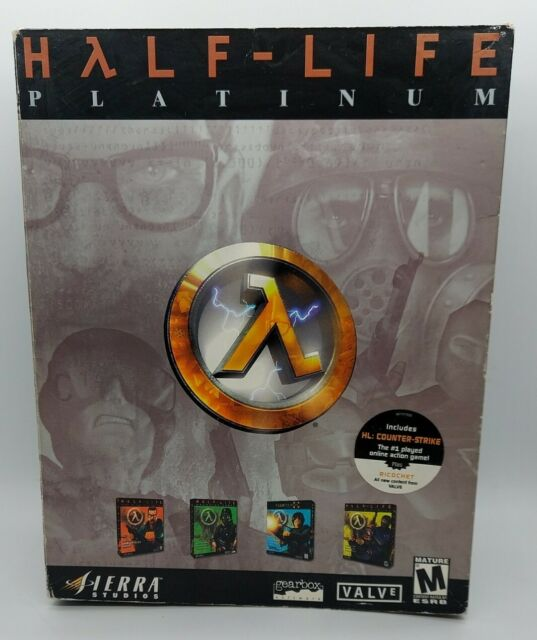 Half-Life Platinum Collection PC (In Box) w/4 Disc & 3 Manuels - Rare Video Game