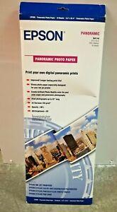 Epson-Panoramic-Photo-Paper-S041145-Genuine-10-Sheets-Open-Box-NIP