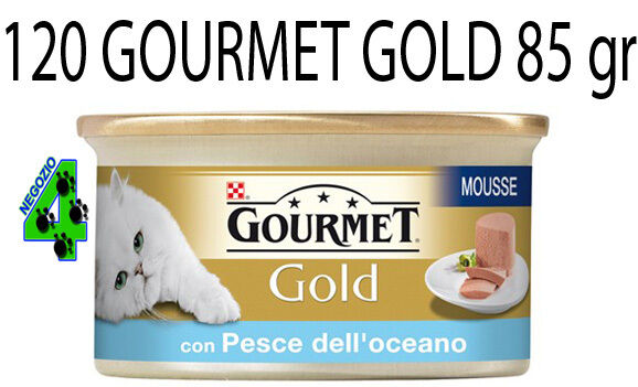GOURMET oro 120 SCATOLETTE DA 85 GR PER GATTO GATTI MOUSSE DADINI PATE'