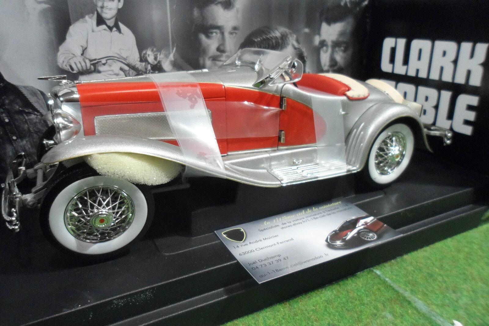 DUESENBERG SJ stradaster Cabriolet Clark GABLE au 1 18 18 18 d AMERICAN MUSCLE ERTL 7962 78d68c