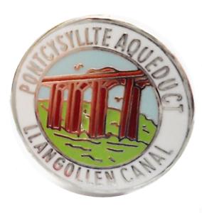 Pontcysyllte-Aqueduct-Llangollen-CANALE-DENBIGHSHIRE-GALLES-PICCOLO-SPILLA-BADGE