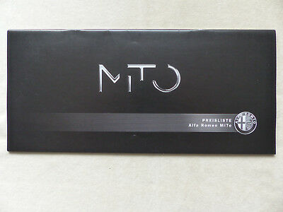 Alfa Romeo Mito Junior Turismo Qv - Preisliste - Prospekt Brochure 07.2012 Schrecklicher Wert