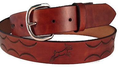 Men/'s Los Altos Genuine Deer Leather Western Cowboy Belt Handmade