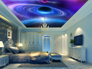 3D Purple Planet 943 Ceiling WallPaper Murals Wall Print Decal Deco AJ WALLPAPER