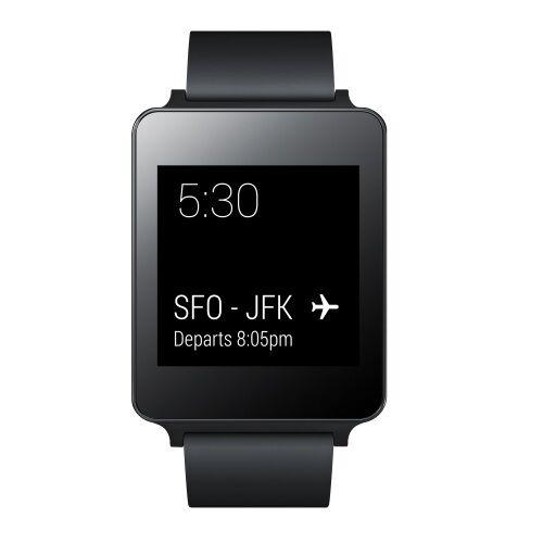 New Open Box LG G Watch LG-W100 Android Wear Smartwatch Wrist Watch -Black Titan