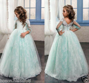 NEW Communion Flower Girl Dress Party Prom Princess Pageant Bridesmaid Wedding