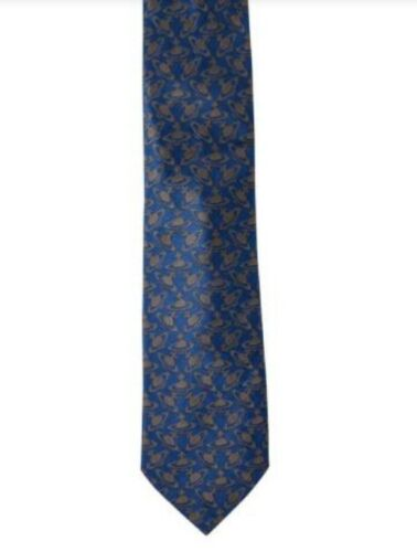 Vivienne Westwood Men/'s 100/% Silk Ties Made In Italy Authentic