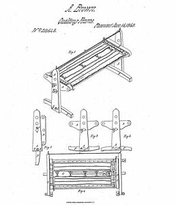 Quilting Frame - Copy of Patent dated 1858