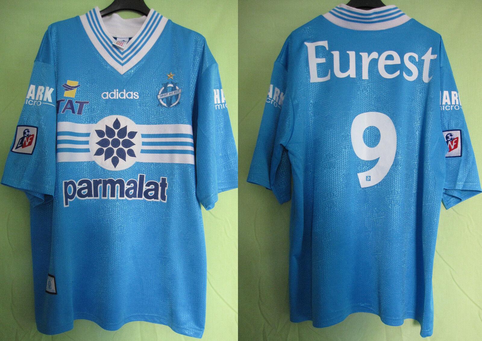 Maillot Olympique de Marseille Football shirt Porté  9 OM Eurest Parmalat - L