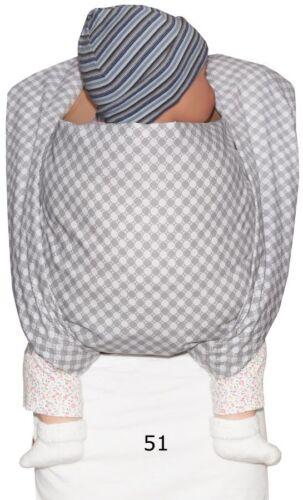 Tragetuch 5m bis 17kg Babytragetuch Babytrage Bauchtrage passt auch f Tragejacke