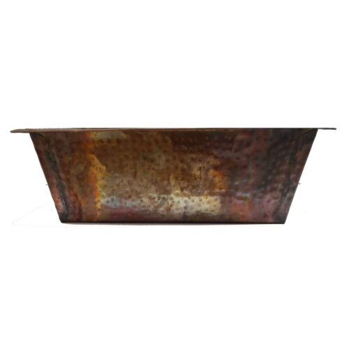 Rectangle Rustic Bathroom Copper Kitchen Undermount Sink House Renovation