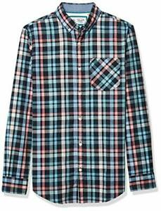Original Penguin Mens Short Sleeve Plaid Button Down Shirt