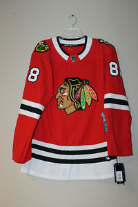 AuthenticWithTag-Chicago-Blackhawks-88-Kane-19-Toews-Blank-Adidas-Home-Jersey