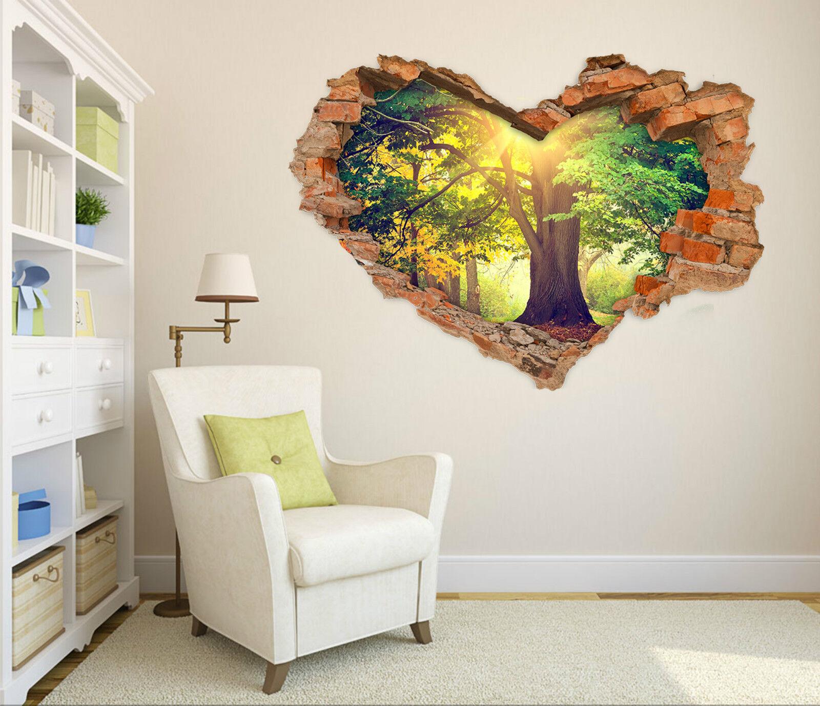 3D Bäume Sonne 623 Mauer Murals Aufklebe Decal Durchbruch AJ WALLPAPER DE Lemon