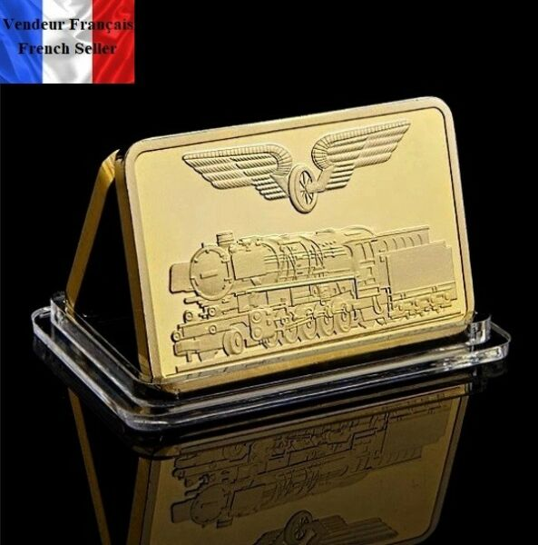 1 Lingot Plaqué Or ( Gold Plated Bar ) - Train Allemand 1926 Prix De Rue