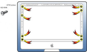 """Apple Imac 27/"""" A1312 Mid 2011 Complete Screw Set Kit Without LCD Screws."""