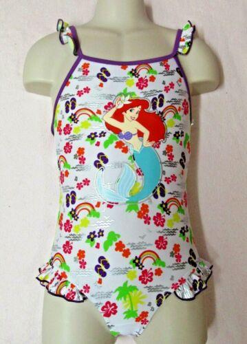 White Disney Mermaid Girls Swimming Costume Swimsuit Swimwear Size 5 years