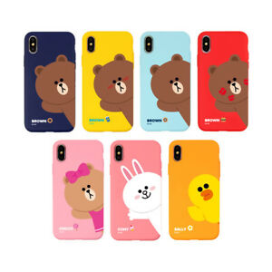 competitive price 9dc49 cc533 Details about LINE FRIENDS Hello Soft Slim Bumper Phone Case Cover For  Apple iPhone X