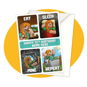 Alex-Eat-Sleep-Mine-Repeat-PERSONALISED-BIRTHDAY-CARD-Minecraft-personalized