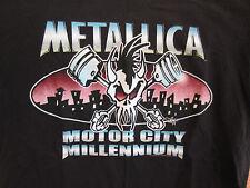 Vintage METALLICA Concert Shirt Lg 1999 Motor City Millennium New Years Eve