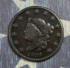 1828-Coronet-Head-Copper-Large-Cent-Large-Narrow-Date-Beautiful-Collector-Coin