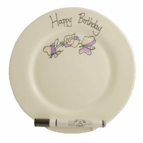 Box 70th Birthday Gift Write Your Own Message Signature Plate: Rd