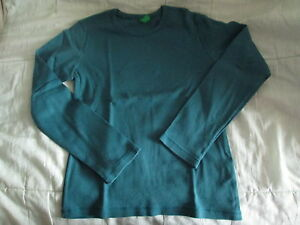 Tee-shirt-Vert-emeraude-ML-T8ans-marque-United-colors-of-Benetton-en-TBE