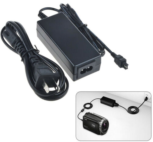 Adaptador Fuente de alimentación de CA para Sony Handycam DCR-DVD803E DCR-DVD808E DCR-DVD805E
