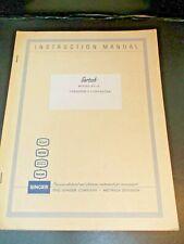 Singer Gertsch Fc 3 Frequency Converter Instruction Manual