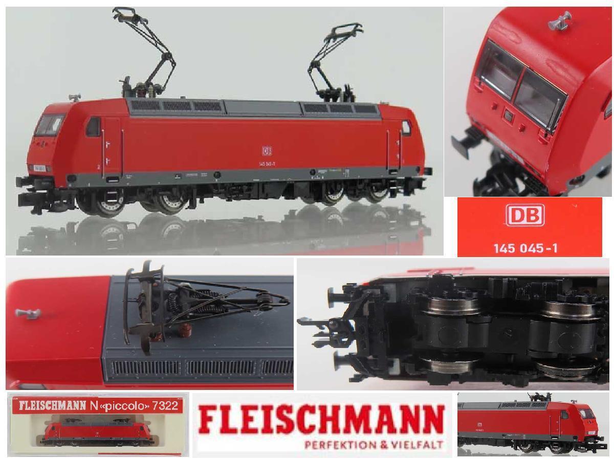 FLEISCHMANN 7322 LOKOMOTIVE ELEKTRISCHER ELECTRIC BR145 045 -1 DB LEITER -N