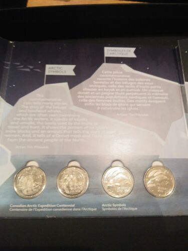 Canadian  4 coin set HEART OF THE ARCTIC shipping within Canada is included.
