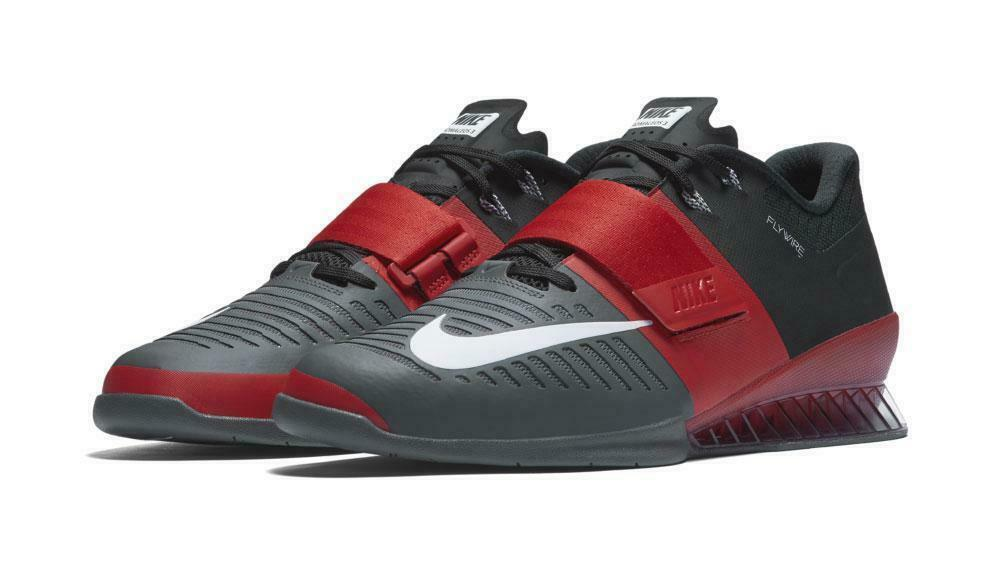 Nike Romaleos 3 Weightlifting Crossfit Trainers Grey Red White 852933-600 sz 14
