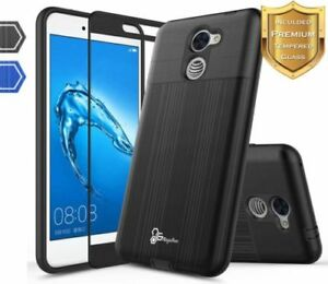 release date fd0ae 05b94 Details about For Huawei Ascend XT2 H1711/Elate 4G Case | Dual Layer  Brushed Slim Hybrid Cover