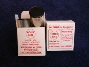 1-Pkg-Hofer-Blitz-Gleitwachs-Wax-2er-Pack-Neu