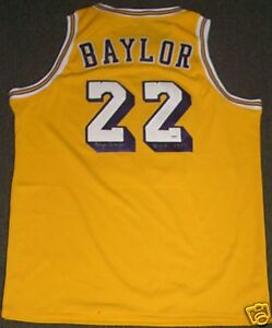 5ed7e876ee4d Image is loading Elgin-Baylor-Signed-Lakers-Basketball-Jersey-PSA-DNA-