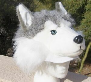 image is loading siberian husky hat plush adult huskies halloween costume