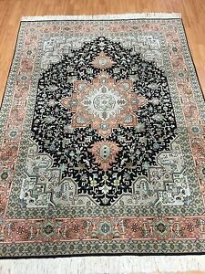 "5' x 6'9"" New Traditional Turkish Oriental Rug - Wool & Silk - Hand Made"