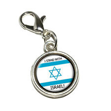 I Stand With Israel Pro Israeli Jewish Support Bracelet Charm with Lobster Clasp
