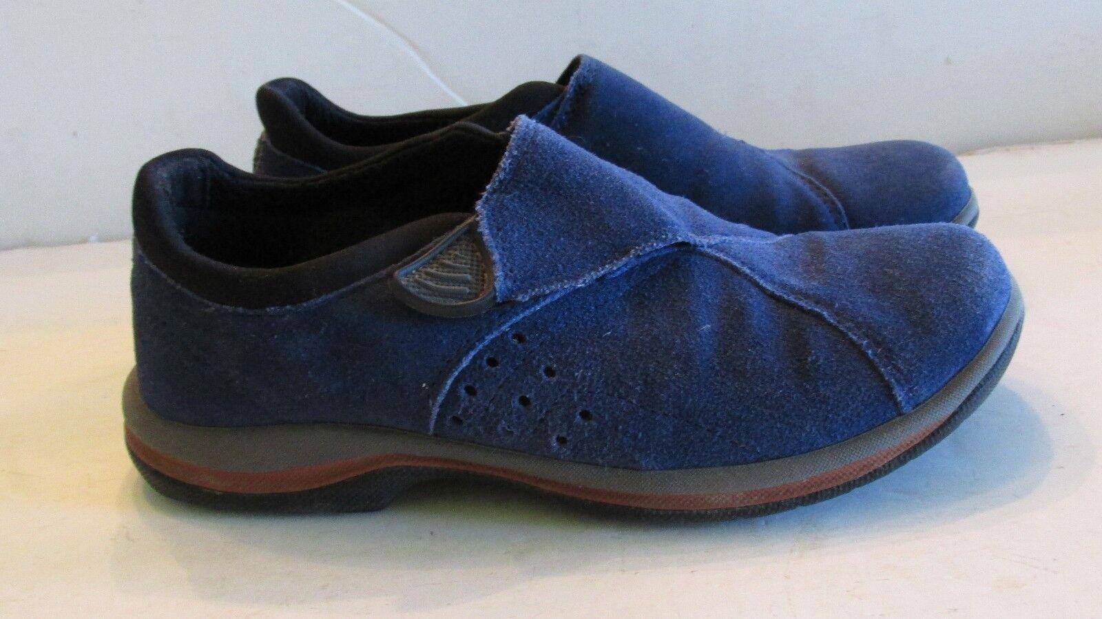 ACORN  Blue Suede Slip Ons Women's Sz  7 M Women's Ons Flats Comfort 9221bf