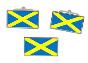 Saint-Alban-039-s-cross-Mercia-England-Flag-Cufflink-and-Tie-Pin-Set