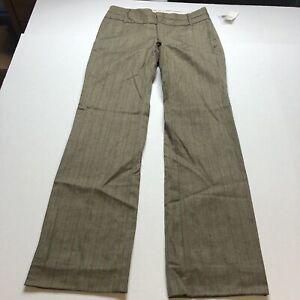 Gap Modern Fit Blue Brown Stripe Work Dress Pants Sz 4 New A184