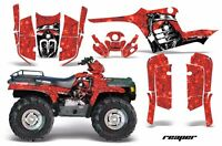 Amr Racing Atv Graphic Kit Polaris Sportsman 500 Decal Sticker 95-04 Reaper Red
