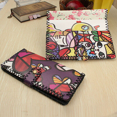 Hot Handmade Style Women Leather Wallet Envelope Purse Card Holder Bag Long Gift
