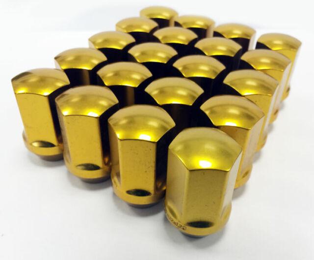 Tpi Ligero Tuercas para Llantas de Aleación 12x1.5 35mm Oro
